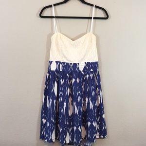 B Smart Sleeveless Dress- Net and Linen- Size 11